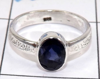Iolite Ring, Iolite  Gemstone, Iolite Jewellery, 925 Sterling Silver, Handmade Ring, Unique Ring, Wedding Ring, Birthday Gift Ring, Gifts