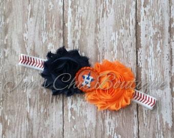 Houston Astros baseball elastic infant, toddler, or adult size headband