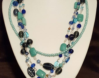 Glass & Pearl Necklace