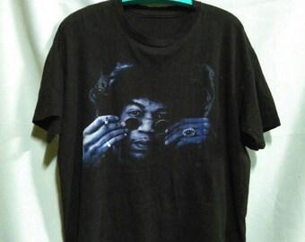 Vintage 90s Jimi Hendrix Black Large T Shirt