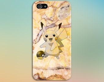 Pikachu Yellow Marble x Stone Phone Case Texture iPhone 6 iPhone 6 Plus Tough iPhone Case Galaxy s8 Samsung Galaxy Case Handmade CASE ESCAPE