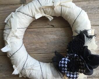 Halloween Mummy Wreath
