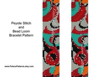 Bracelet Pattern for Bead Loom Weaving or Peyote Stitch - NP3 - Peyote Bracelet Pattern - Loom Bracelet Pattern