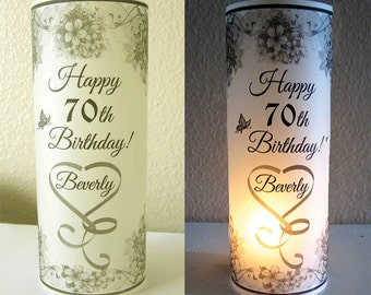 12 Personalized Birthday Party Flower Luminary Centerpiece Table Decoration
