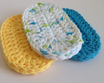 Crochet Teething Biscuit - 100% Natural Cotton - Baby Teething Pad - Infant Chew Rag - Baby Shower Gift - Toddler Teether