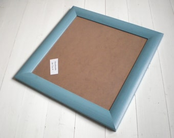 Blue picture frame Blue photo frame 12x12 wood frame 30,5x30,5 cm frame Wood Craft wall decor handmade solidwoodshop