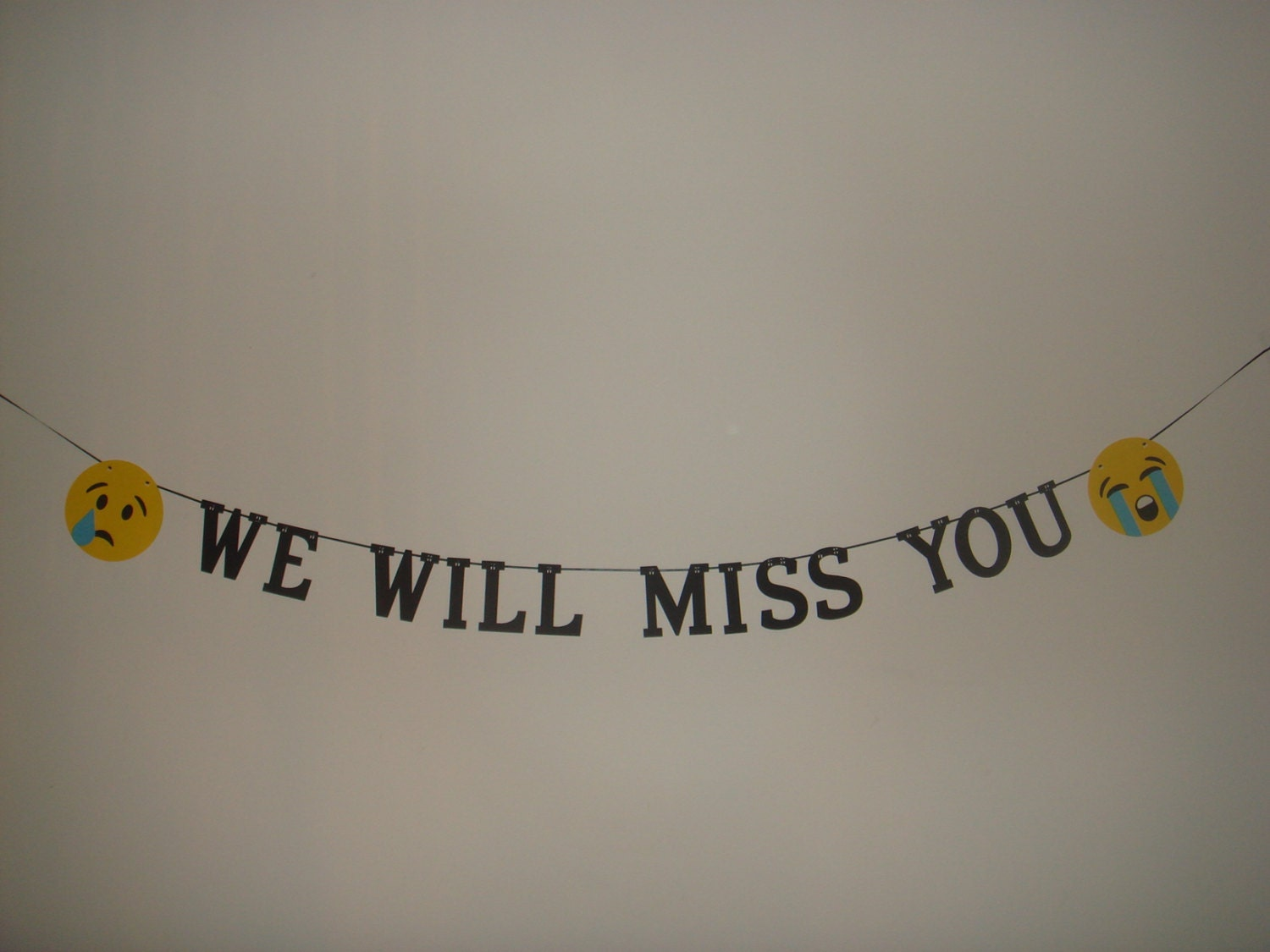 We Will Miss You banner decoration decor garland by ...