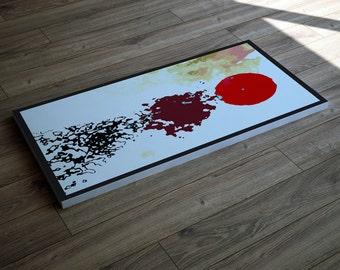 "Abstract art print on canvas  - wall decor / wall art / canvas art - large modern canvas art- ""coming to order"""