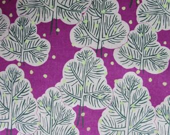 Trees in Purple - Hokkoh Cotton Canvas Fabric Fat Quarter
