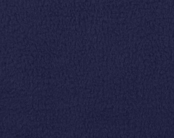 Navy Blue Fleece Fabric - by the yard