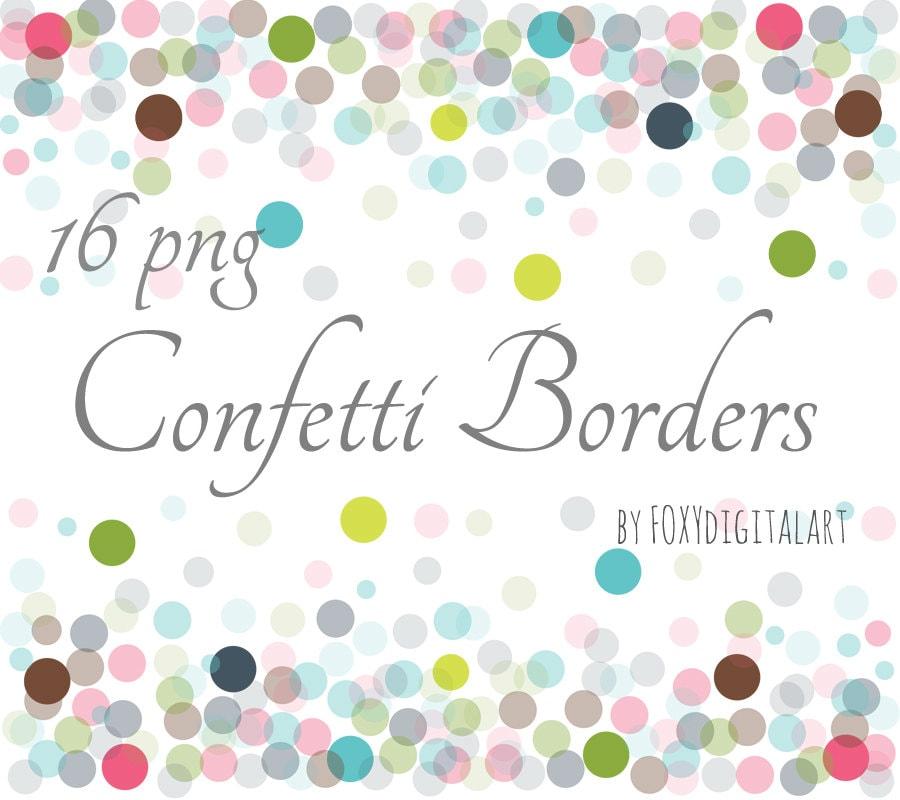 Confetti Clipart Confetti Borders Confetti Border Set