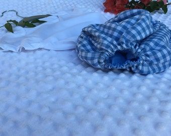 Baby Boy Withe & Blue square print Bloomer size 12 moths