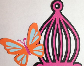 Birdcage with Butterfly Die Cut