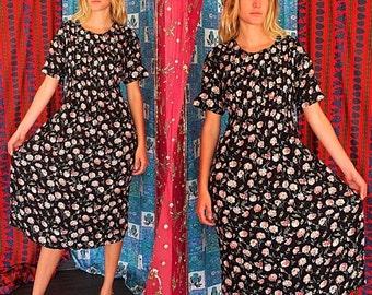 ON SALE Vintage 80s R K Originals Slinky Sundress Med