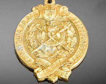 German brass medal 50 year 1899