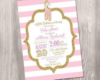 ballerina baby shower invitation ballerina baby shower girl baby shower invite little ballerina