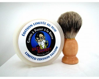 Beer shaving soap Tallow and Best badger shaving brush