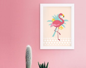Poster pink Flamingo - A4 - special Format was