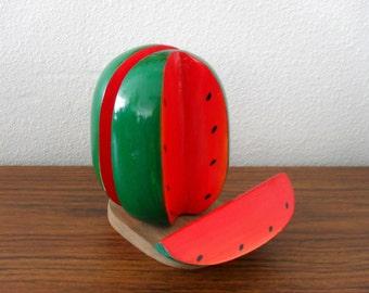 Wood Watermelon Napkin Letter Holder