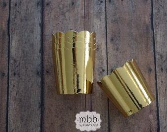 Mini Gold Metallic Baking Cups