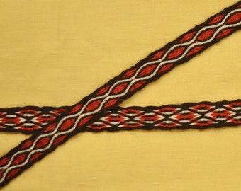 Silk Tablet Woven Braid, Card Woven Trim, Anglo Saxon, Viking Card Weaving, Living History, Silk Tablet Woven Trim