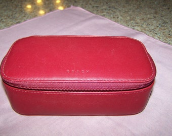COACH - Red Leather Make-up Case