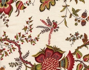 Tissu indienne motif 8 sur fond écru - coupon 55 cm x 50 cm