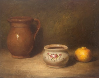Oil Painting 12x16 in - ORIGINAL - Still Life - Painting by Bruno Monteiro Carlos