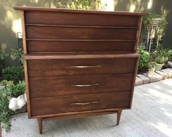 SOLD! Mid Century Modern Kent Coffey Tallboy Dresser