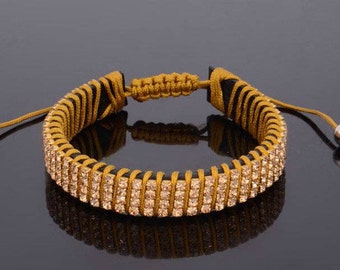 Rhinestone Handmade women Link Bracelet