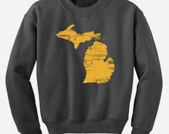Michigan Sweatshirt  - MI State Jumper - Love Michigan
