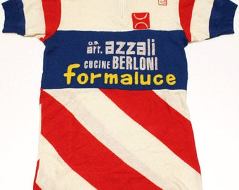 60's vintage cycling jersey made in Italy