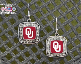 Oklahoma Sooners Square Earrings