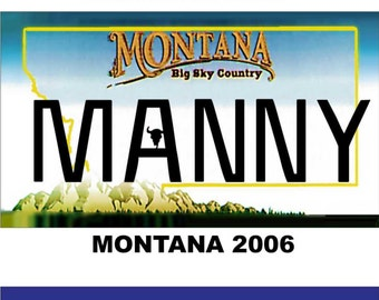 Personalized Montana Refrigerator Magnet State License Plate Replica