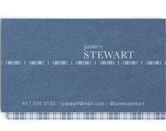 Tartan Calling Card / Business Card