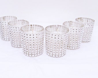 25 candle holders, bling wedding, bling wedding decor, votive candle holder,  wedding centerpiece, wedding decorations, centerpieces