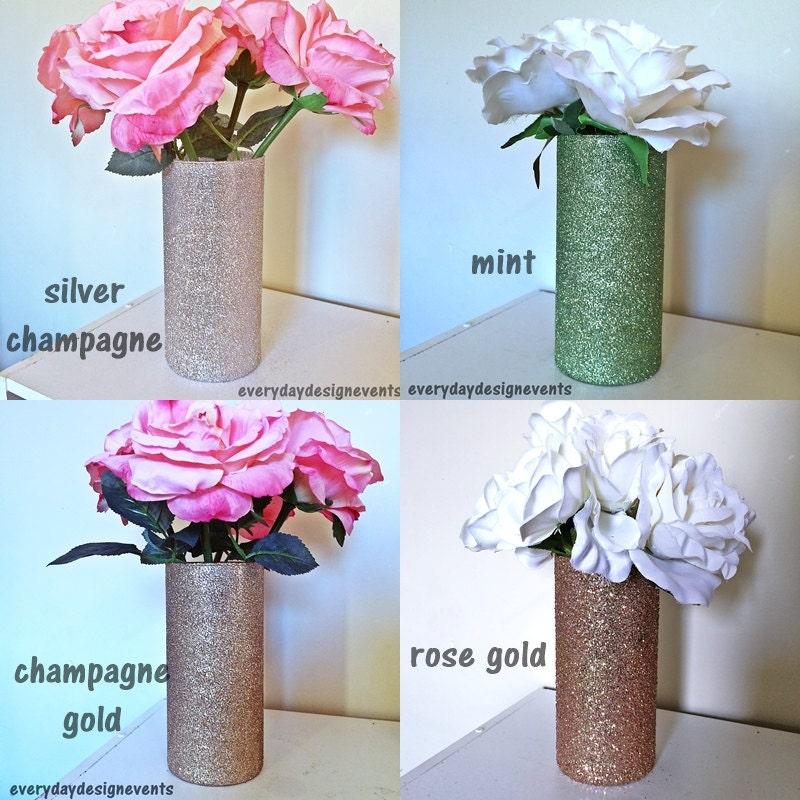 Set Of 3 Vases Glass Vase Wedding Centerpiece Baby Shower