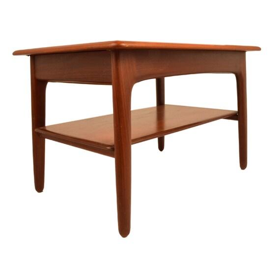 Teak Coffee Table And End Tables: Mid Century Danish Modern Teak Side Coffee Table