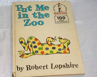 """Vintage """"Put Me In the Zoo"""" Book By Robert Lopshire 1960"""