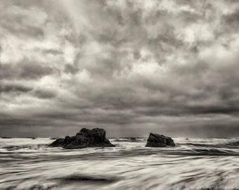 Beach Photography, Fine Art Photography, Zen, Black and White Photography, Landscape Photography, Nature, Wall Art, Home Decor, Monochrome