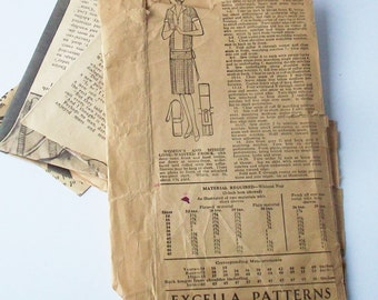Vintage Sewing Pattern / 1920's 30's / Drop Waist Design / Lady Mary Style