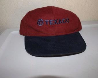 Vintage 90's Texaco Gasoline Snapback Hat