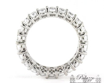Open Gallery, Round Basket Eternity Band with Charles & Colvard Moissanite Gemstones 2.20tcw