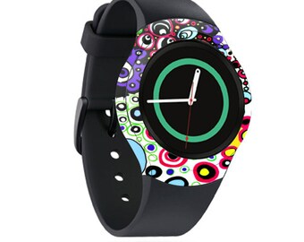 Skin Decal Wrap for Samsung Gear S2, S2 3G, Live, Neo S Smart Watch, Galaxy Gear Fit cover sticker Circle Explosion