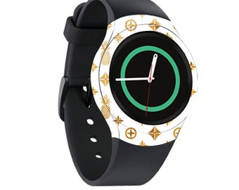Skin Decal Wrap for Samsung Gear S2, S2 3G, Live, Neo S Smart Watch, Galaxy Gear Fit cover sticker Gold PinePebbles
