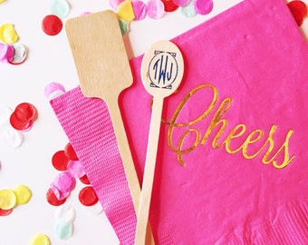 Personalized drink stirrers , Monogrammed drink stirrer, Monogrammed stirrer stick, custom stirrers, wooden stirrer stick, wedding stirrers