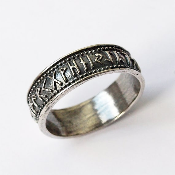 Nordic jewelry Norse rings Norse jewelry Rune ring Elder