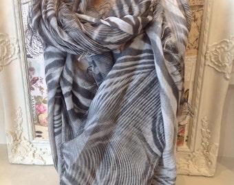 Beige and khaki  pattern Italain scarf 100% Modal