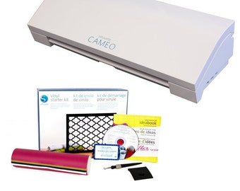 Silhouette CAMEO 3 Cutting Machine with Vinyl Starter Kit - A 339.98 Value - NOW SHIPPING!!!