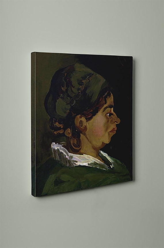 Head of a Peasant Woman Right Profile Vincent van Gogh Canvas